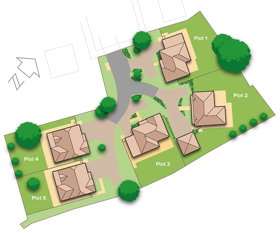 New Homes from King & Johnston Site Plan